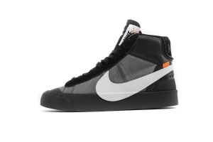 开拓者 黑白OW Nike Blazer Mid OFF WHITE Black