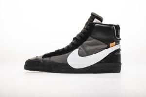 开拓者 黑白OW Nike Blazer Mid OFF WHITE Black White
