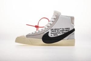 开拓者 白色OW Nike Blazer Mid Off White White