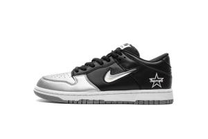 耐克Dunk SB 黑银 耐克 OFF-WHITE X Nike Dunk SB Low Dunk Low OG Metallic Silver