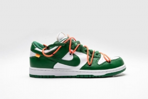 耐克Dunk SB 白绿 OFF-WHITE X Nike Dunk SB Low Nike Dunk Low