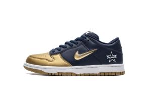 耐克Dunk SB 深蓝金 OFF-WHITE X Nike Dunk SB Low Nike SB Dunk Low OG Jewel Swoosh Gold