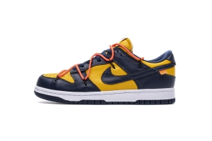 耐克Dunk SB 蓝黄  OFF-WHITE X Nike Dunk SB Low OFF WHITEx Nike Dunk SB Low White Michigan