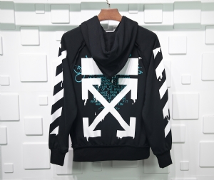 Off-White衣 CL 帽衫立体条纹黑 Off-White Black