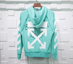 Off-White衣 CL 帽衫立体条纹蓝 Off-White Blue