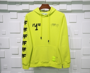 Off-White衣 CL 帽衫曼谷联名黄 Off-White Yellow