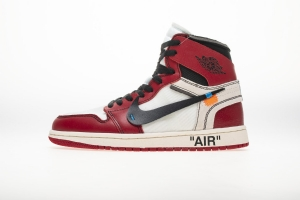 乔丹1代 白红OW Off White x Air Jordan 1 Off White Chicago
