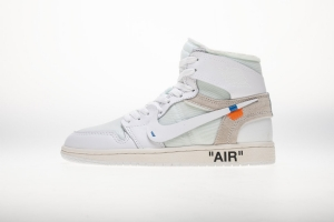 乔丹1代 全白OW Off White x Air Jordan 1 Off White Triple White