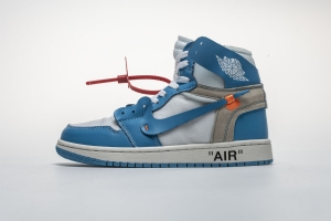 乔丹1代 北卡蓝OW Off White x Air Jordan 1 Off White UNC
