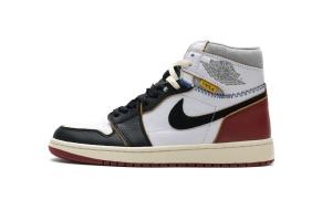OWF乔1 拼接红 Off White x Air Jordan 1 Union Los Angeles Black Toe