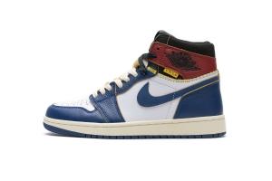 OWF乔1 拼接蓝 Off White x Air Jordan 1 Union Los Angeles Blue Toe