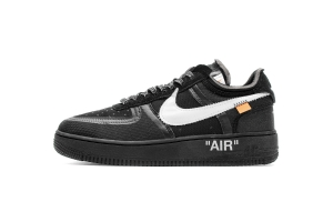 STOS空军 全黑OW OFF WHITE X Nike Air Force 1 Low  Low Black