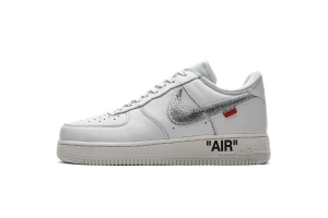 STOS空军 白银OW OFF WHITE X Nike Air Force 1 Low  Low Complex Con