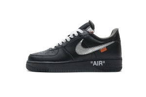 STOS空军 黑银 OFF WHITE X Nike Air Force 1 Low  Low MOMA