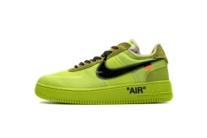 STOS空军 荧光绿OW OFF WHITE X Nike Air Force 1 Low  Low Volt