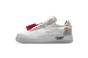 STOS空军 全白OW OFF WHITE X Nike Air Force 1 Low  Low White