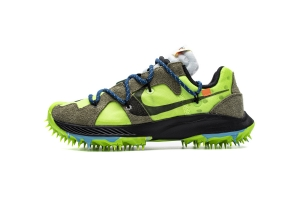 耐克钉鞋 棕绿 OFF WHITE X Nike Zoom Terra Kiger 5 White Electric Green