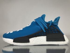 TS菲董 蓝色 pharrell Williams x Adidas Originals HU NMD Blue