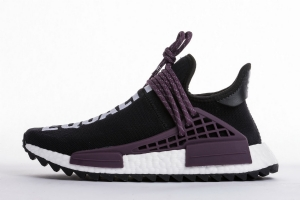 TS菲董 黑紫梵文 pharrell Williams x Adidas Originals HU NMD Equality