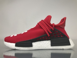TS菲董 红色 pharrell Williams x Adidas Originals HU NMD Red