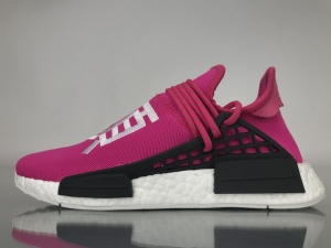 TS菲董 桃红 pharrell Williams x Adidas Originals HU NMD Shock Pink