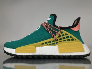 TS菲董 黄绿 pharrell Williams x Adidas Originals HU NMD Sun Glow