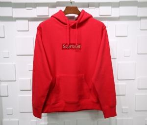 Supreme衣 CL 帽衫水钻红 Supreme Red