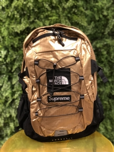 SUP背包 金色 Supreme X TNF Backpack 18SS gold