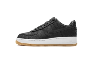 XP空军 黑丝绸 XP空军 Fragment Clot x Nike Air Force 1 PRM Black